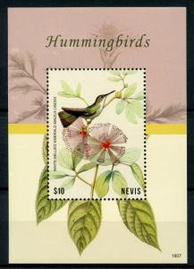 Nevis Birds on Stamps 2018 MNH Hummingbirds White-Bellied Emerald 1v S/S