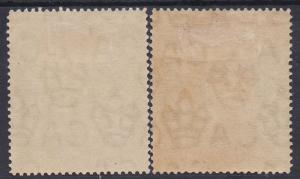 MALTA 1914 FIGURE 2/6 - BOTH SHADES WMK MULTI CROWN CA