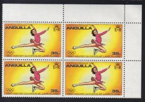 Anguilla 1980 MNH Olympic games Lake Placid cornerblock 35c