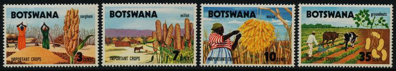 Botswana 71-4 MNH Sorghum, Millet, Corn, Peanuts, Agriculture
