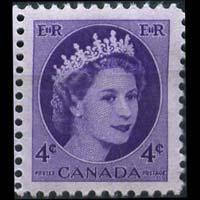 CANADA 1954 - Scott# 340 Queen 4c NH