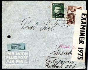 SLOVAKIA WW2 Cover UNDERCOVER ADDRESS Žilina Portugal Lisbon Censor 1942 MC322