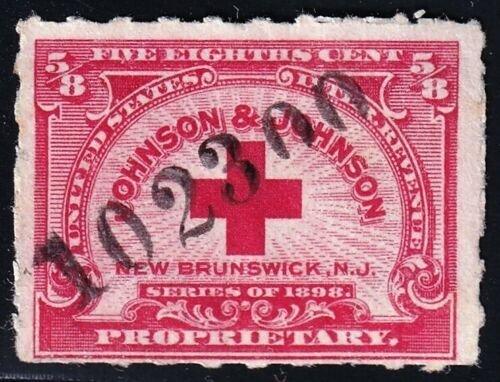 US STAMP BOB #RS286 5/8 CENT JOHNSON & JOHNSON MEDICINE STAMP used
