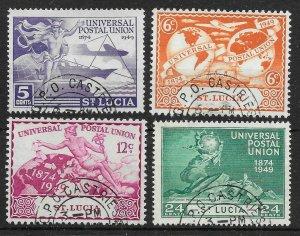 ST.LUCIA SG160/3 1949 U.P.U. SET USED