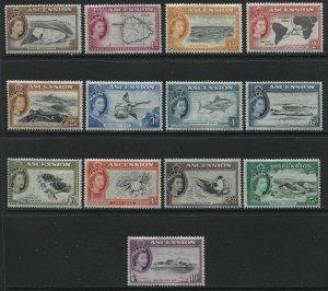 Ascension Island QEII 1956 complete set mint o.g. hinged