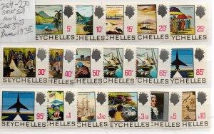 Seychelles 257-270  Mint Never Hinged