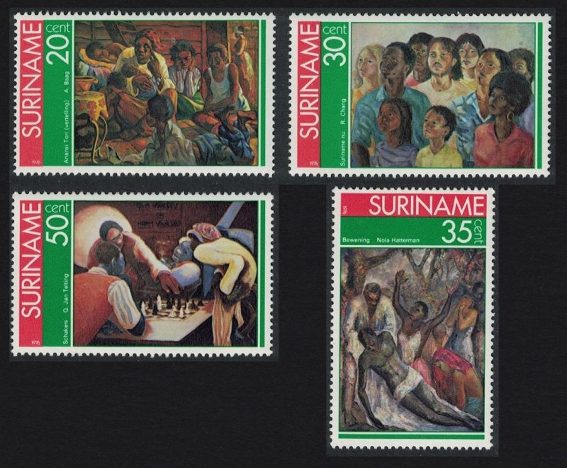 Suriname MNH 454-7 Paintings Of Local Artist 1976