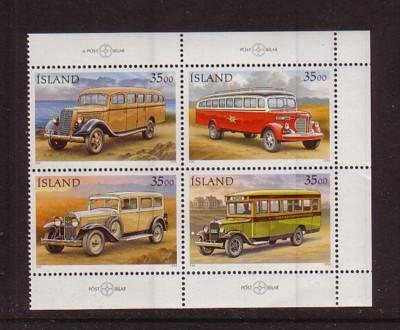 Iceland Sc 820-3 1996 Mail Trucks stamp set mint NH