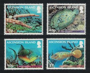 Ascension Reef Fish 2nd series 4v SG#1129-1132