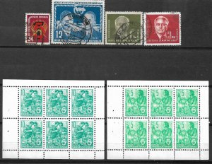 COLLECTION LOT #429 GERMANY EAST 16 STAMPS 1951+ MNH/USED
