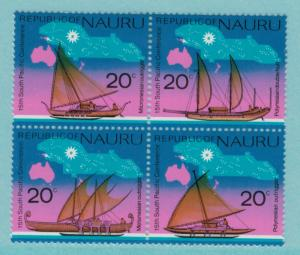 Nauru Scott #127a Block of Four Stamps, South Pacific Conference Issue From 1...