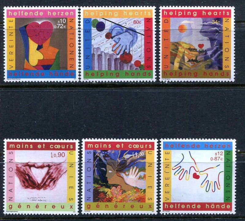 UN International Volunteers Year 2001 Set 793-94, 288-89, 371-72 Complete MNH