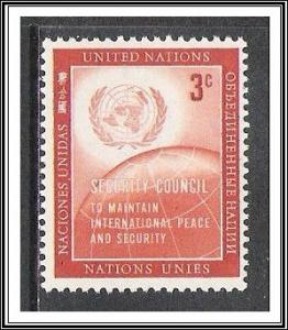 United Nations NY #55 Security Council MNH