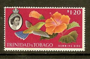 Trinidad & Tobago, Scott #101, $1.20 QEII, Fine Ctr, MVLH