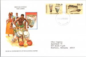 Gambia, Music, Worldwide First Day Cover