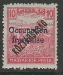 Hungary French Occupation Arad Issue 1919 10f MH* A18P16F627