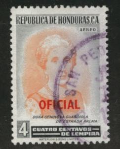 Honduras  Scott Co72 Used  Official airmail