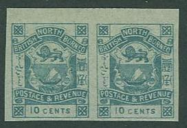 North Borneo SC#43a / SG# 44d Coat of Arms IMPERF PAIR MNH