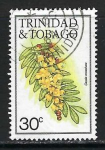 TRINIDAD & TOBAGO 397 VFU FLOWERS O532