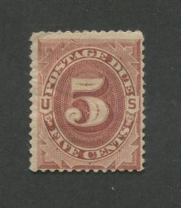 1884 US Postage Due Stamp #J18 Mint Hinged Fine Original Gum