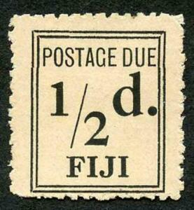 Fiji SGD5a 1917 1/2d Black (narrow Setting) Post Due Mint (no gum as issued)