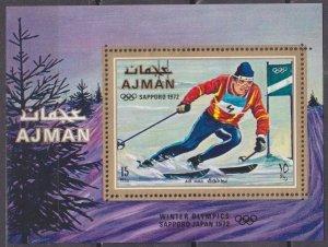 1970 Ajman 668/B222 1972 Olympic Games in Sapporo 8,50 €