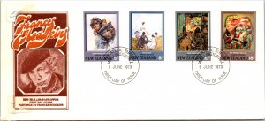 New Zealand, Worldwide First Day Cover, Art