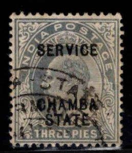 India - Chamba Convention state Scott o15 Used