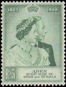 1949 Aden Quaiti State of Shihr & Mukalla #14-15, Complete Set(2), Hinged