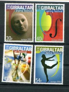 Gibraltar   Europa  2003 Mint VF NH - Lakeshore Philatelics