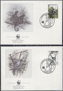 Honduras stamp WWF Geoffroys spider monkey set on 4 FDC Cover 1990 WS199828