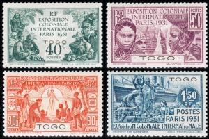 Togo (French) Scott 254-257 (1931) Mint H VF Complete Set, CV $26.00 B