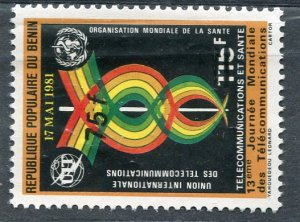 Benin 1981 WORLD HEALTH DAY Ovpt. New value Perforated Mint (NH)