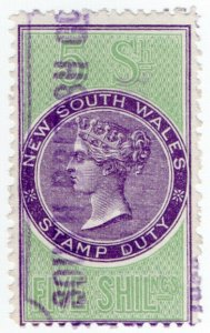 (I.B) Australia - NSW Revenue : Stamp Duty 5/-