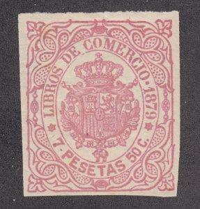 Cuba Jones CB70 unused. 7P50c rose Books of Account fiscal, 1879 issue, sound,