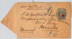 Trinidad & Tobago -  POSTAL STATIONERY - WRAPPER to MEXICO - RARE DESTINATION!