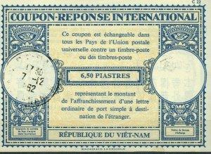 Vietnam 6,5 Piastres 1962 International Reply Coupon IRC