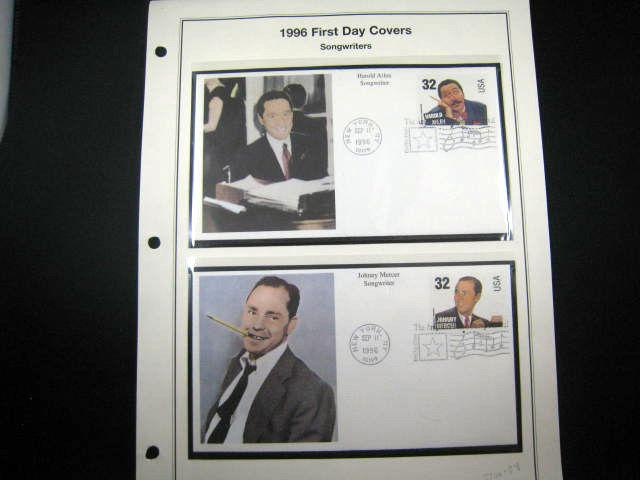U.S. FIRST DAY COVERS - TOPICALS  - SONG WRITERS - set of 4