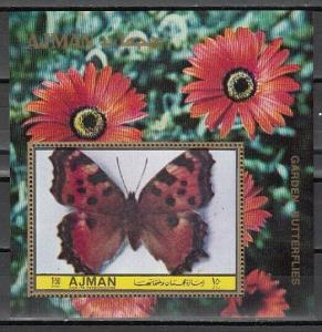 Ajman, Mi cat. 1957, BL425 A. Garden Butterfly s/sheet.
