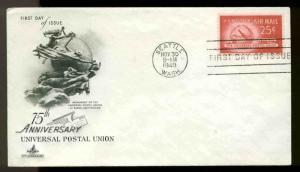 U.S. FDC #C44 Artcraft Cachet Seattle, WA Universal Postal Union-- Unaddressed