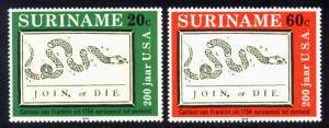 Suriname Sc# 458-9 MNH U.S. Bicentennial