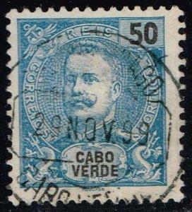 Cape Verde #44 King Carlos; Used (1.50)