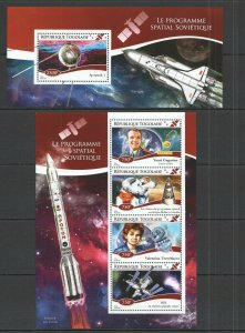 TG535 2014 TOGO SOVIET SPACE PROGRAMM YOURI GAGARIN  KB+BL MNH