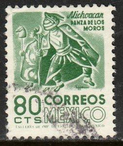 MEXICO 1094, 80c 1950 Defin 9th Issue Unwmkd Fosfo Coated. USED. F-VF.(1448)