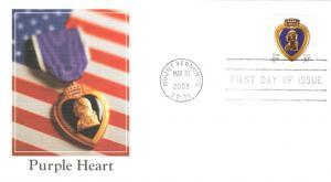 #3784 Purple Heart Fleetwood FDC
