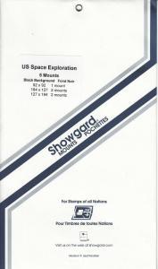 SHOWGARD BLACK MOUNTS US SPACE EXPLORATION (5) RETAIL PRICE $7.25