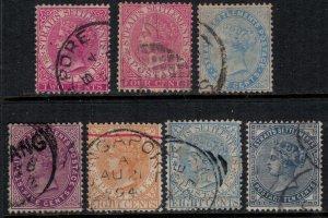Straits Settlements #41,3,5,7,9-51  CV $9.10
