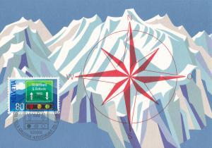 Switzerland # 693, St. Gotthard Tunnel Opening, Maxi Card