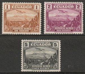Ecuador 1939 Sc C70-2 air post set MH*