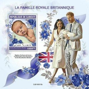 Z08 IMPERF DJB190515b DJIBOUTI 2019 British royal family MNH ** Postfrisch